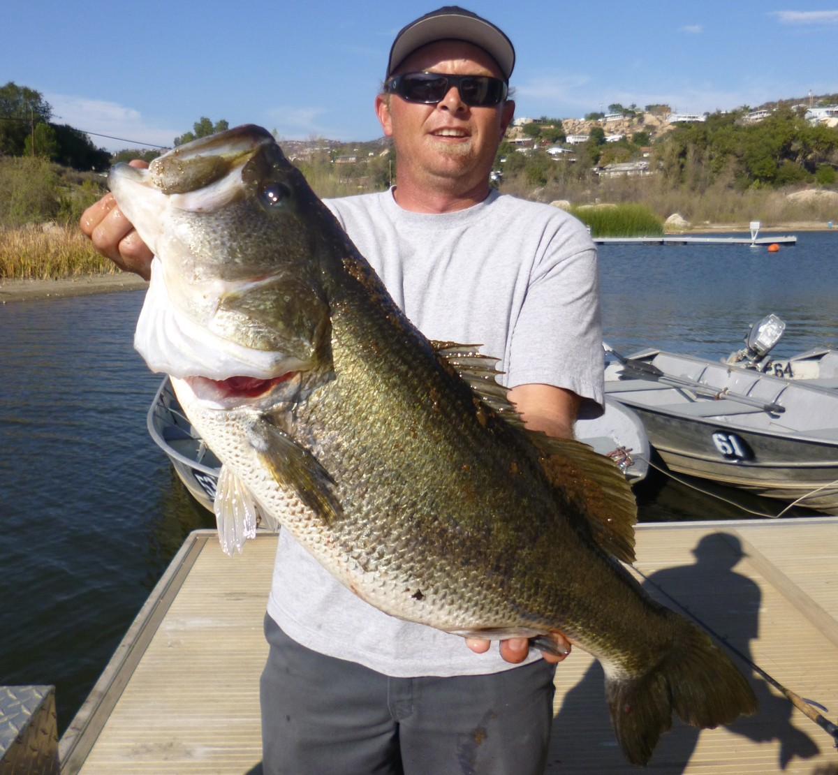 Trout fishing excellent prior to rains large bass for Lake wohlford fishing report