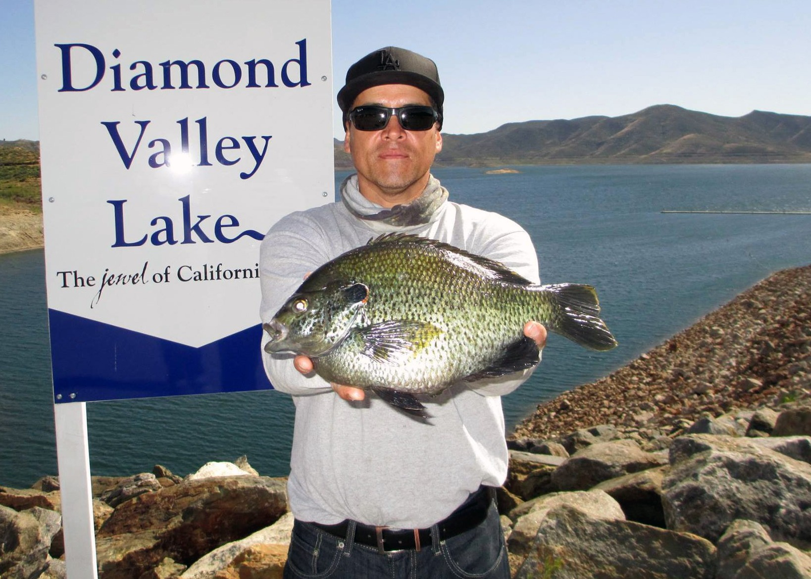 Record redear sunfish caught at diamond valley for Diamond valley lake fishing report