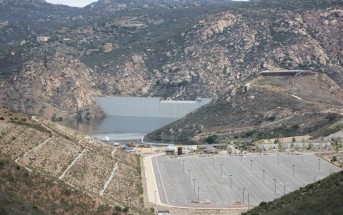 San Vicente's new parking lot, marina, and heightened dam - photo by Billy Ortiz