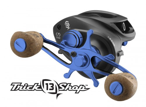 The 13Fishing Concept A reel customized with the midnight blue Trick Shop Component Kit