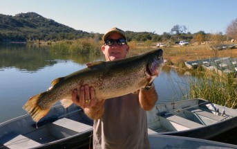Roy Duncan with a 9.75 pound rainbow trout caught on January 12th