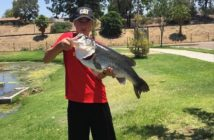Benjamin Fry with a 10 lb 5 oz bass out of Santee Lakes' lake 4 on a chatterbait