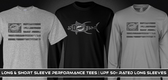 Tuna Silhouette and Patriotic SDFish Shirts Available For Order