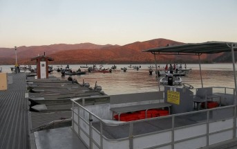 Rocky Mountain Rec's rental boat fleet at Lower Otay