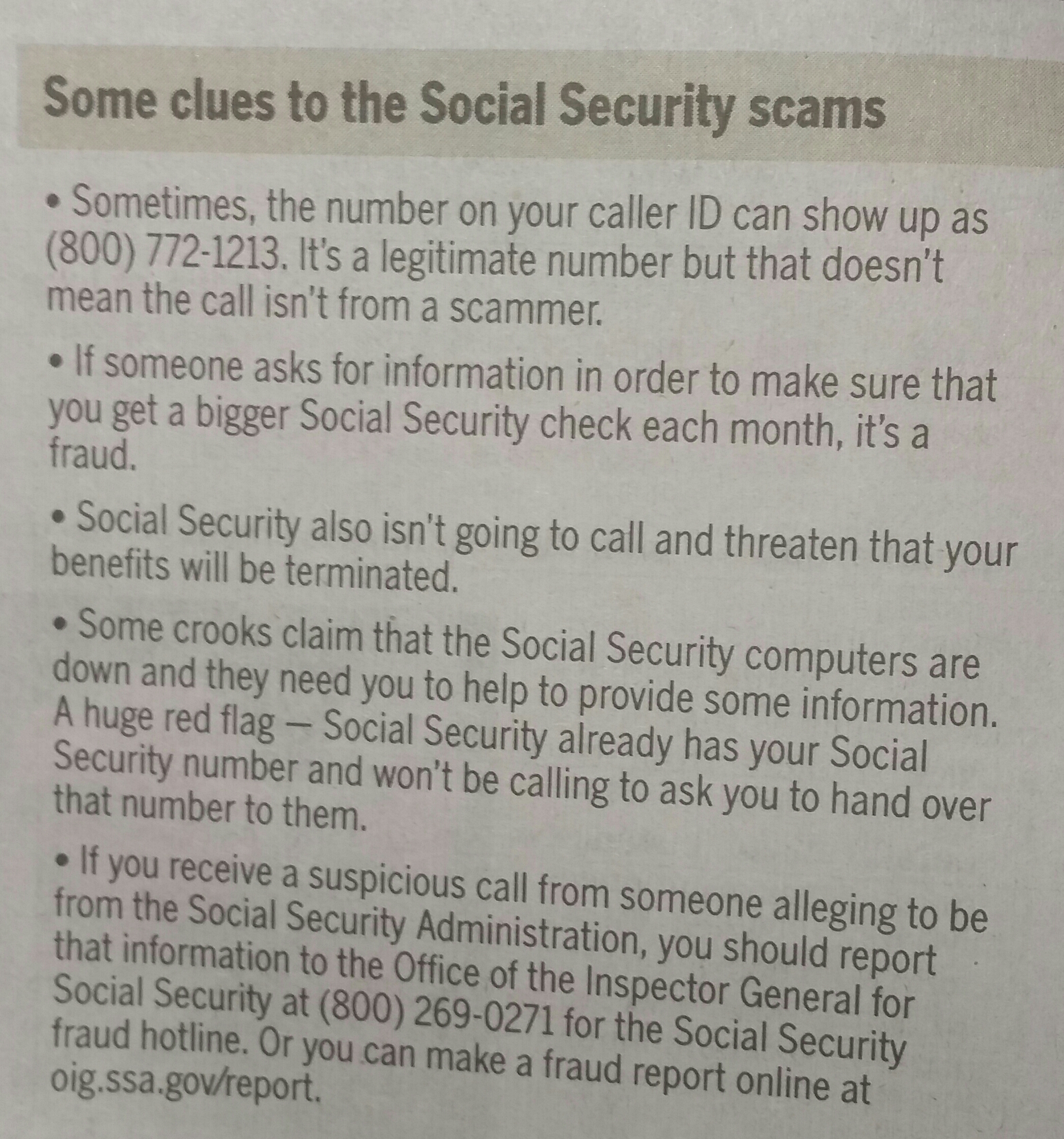 call from social security administration