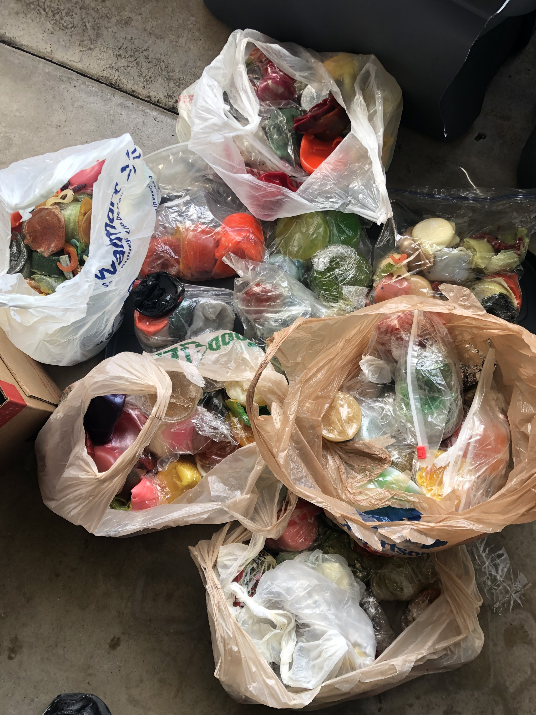 For Sale - Scrap plastic for pouring baits | San Diego Fishing Forums