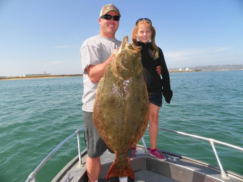 Record halibut for 8 year old girl san diego fishing forums for Bass fishing san diego