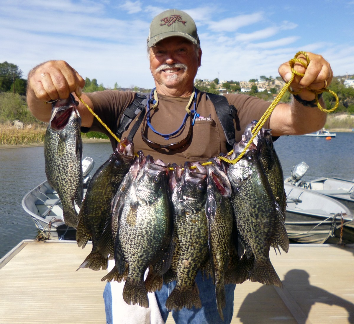 Bass and crappie bite good at wohlford for Lake wohlford fishing report