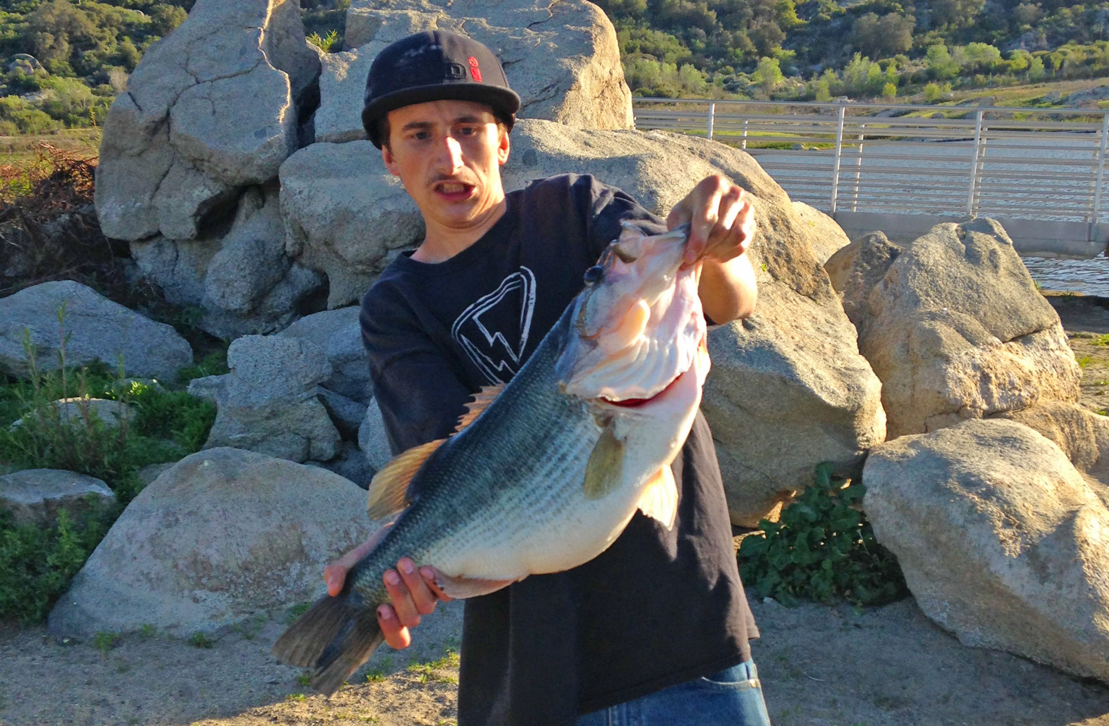 Another double digit bass headlines action from morena for Bass fishing san diego