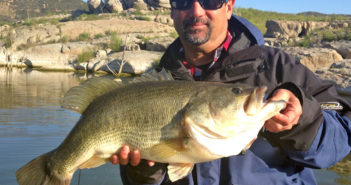 Charles Bowers with a giant Lake Morena bass