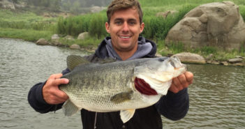 Jordan Burrow with a nice Lake Morena largemouth bass
