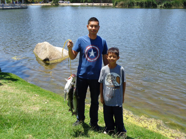 Santee lakes fish report 6 8 15 for Kentucky fishing license cost