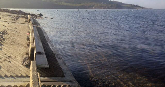 The water level officially fell below the launch ramp at DVL on Sunday, May 31st