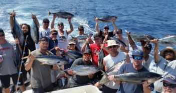 19 happy passengers on the 3/4 day trip aboard the Malihini on 8/21/15