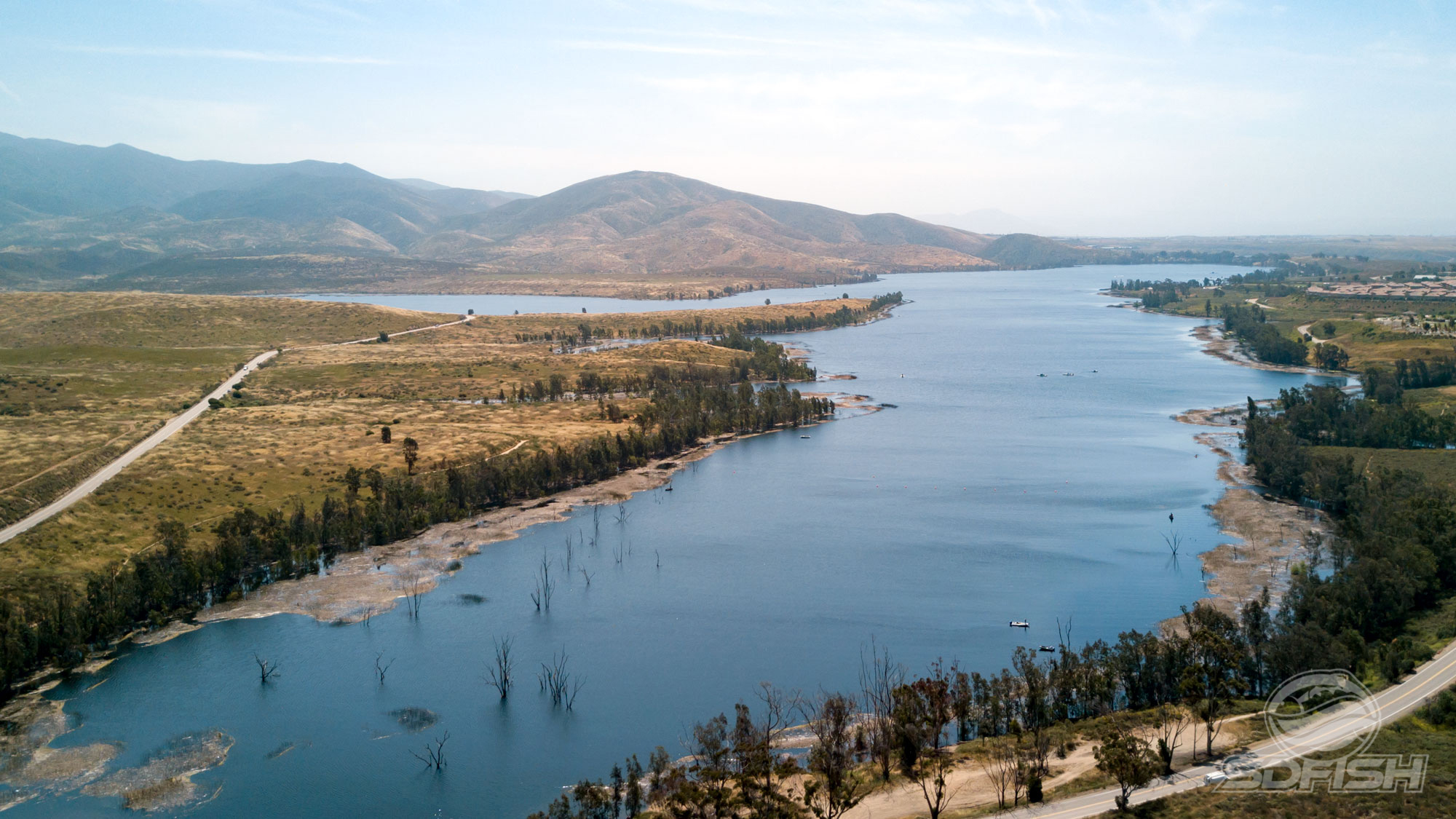 Quiz can you recognize all of these san diego area lakes for Lake hodges fishing