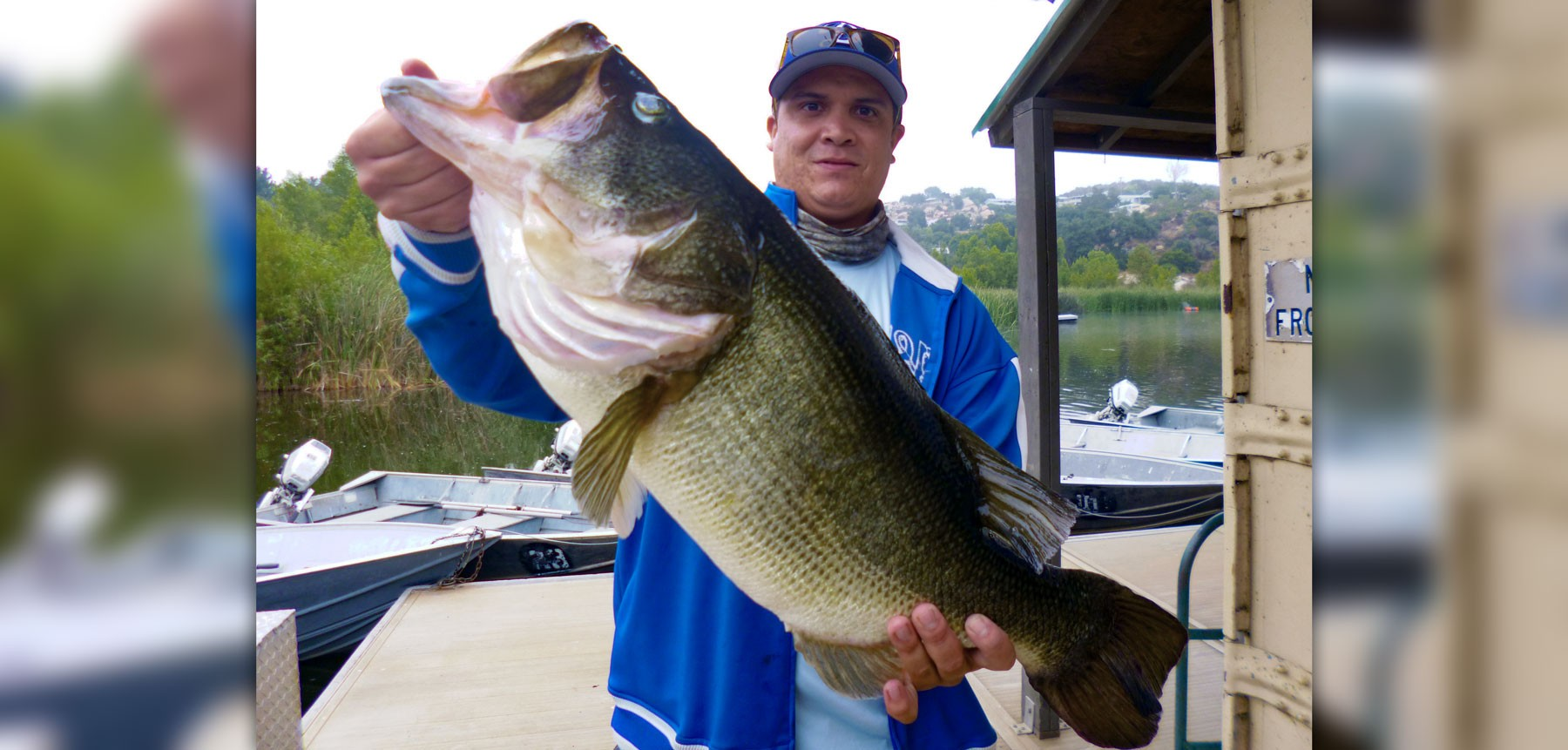 One of the year 39 s biggest bass landed at wohlford for Lake wohlford fishing report