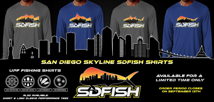 San Diego Skyline SDFISH Shirts – Available to Order