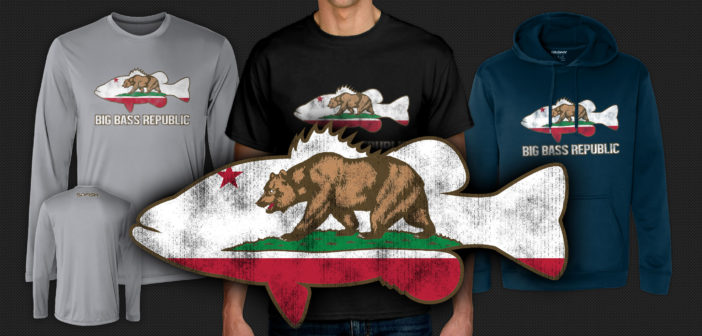 "SDFISH ""Big Bass Republic"" CA Flag Shirts"