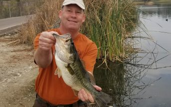 Jeromie Jackson caught this largemouth bass out of Lake 5 on a Senko