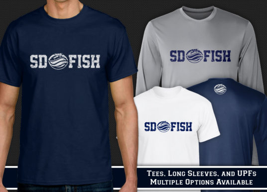 Classic SDFish Shirts Available to Order
