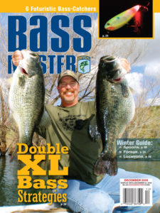 Mike Long on the cover of Bassmaster Magazine in December of 2009